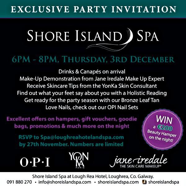 Shore Island Spa Exclusive Spa Event